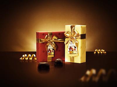 Pralines velvet gold design branding leemon luxury chocolate photoshop