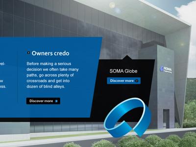 SOMA engineering company profile detail webdesign 3d render postproduction illustration