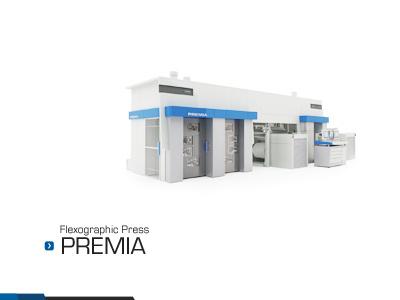 SOMA engineering flexographic press 3D render 3d render postproduction illustration