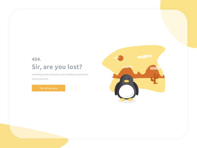 404 Page Not Found desktop web humor empty lost penguin desert west error page not found 404
