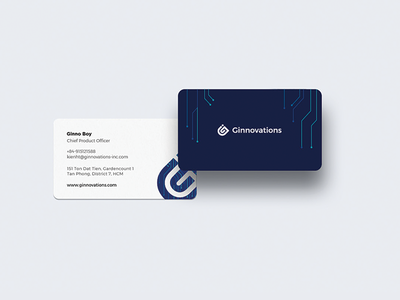 Ginnovations name card design graphic