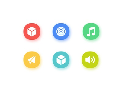 Icon ui illustrator color tv icon icons sound 3d cache music myhub fast application