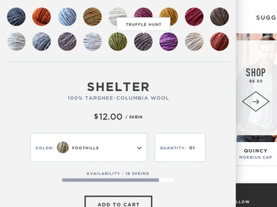 Brooklyn Tweed Product Page brooklyn tweed yarn website ecommerce product