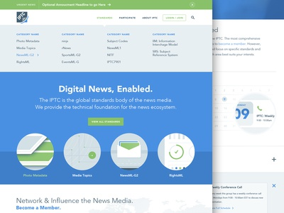 IPTC Launch iptc website launch homepage illustrations photography news