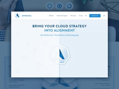 Apprenda Launch brand homepage apprenda software launch website