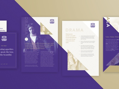 Poster Series classical academy angles layout education displays posters