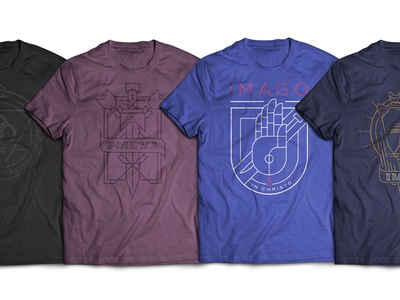 The Retreat Collection church line art illustration tshirt clothing