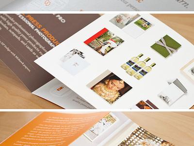 Square Brochure print brochure icons orange pinhole pro square