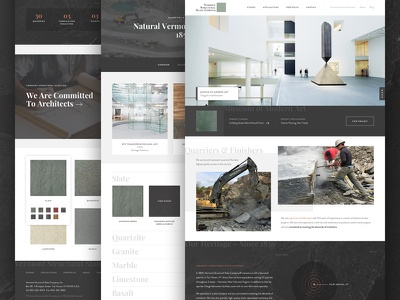 Vermont Structural Slate Launch homepage design slate architecture launch website