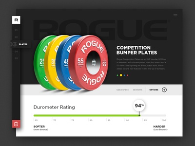 Rogue Fitness daily ui ecommerce user experience user interface fitness rogue crossfit product