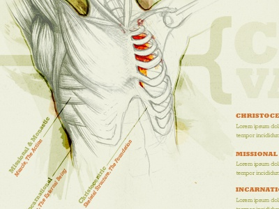 Core Values medical illustration analogy infographic rockwell watercolor