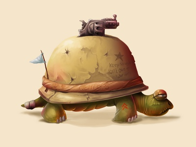 Dogol digital art warrior games character illustration design turtle