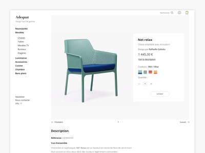 Adequat - Ecommerce ( product page ) category product checkout quickview trendly webdesign design minimal uxdesign uidesign concept ecommerce