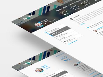 Boostfy dashboard menu innovation plataform desktop web boostfy
