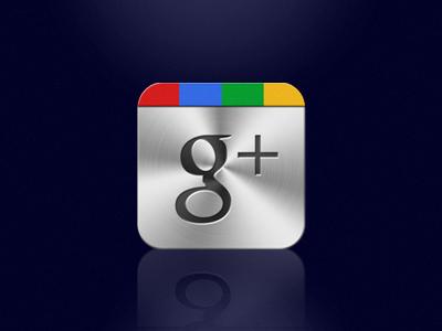 Google+ Style Aluminium Icon