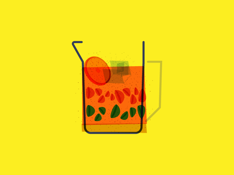 summer drink fruits ice orange drink