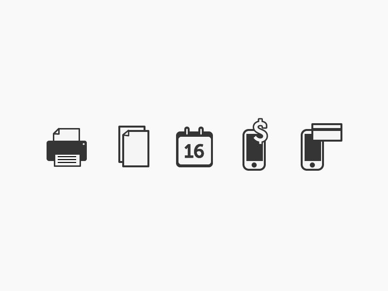 UI Icons  ui icons printer copy calendar recharge phone