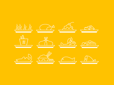 Food Icons food icon meat fish pasta