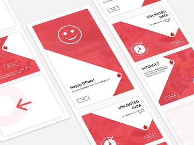 Vodaphone Smartshelf red vodafone design ux ui