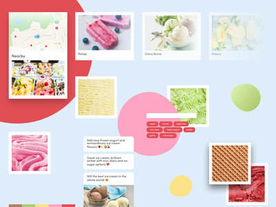 Creamland mood board inspiration ice cream mood boards mood board moodboards moodboard