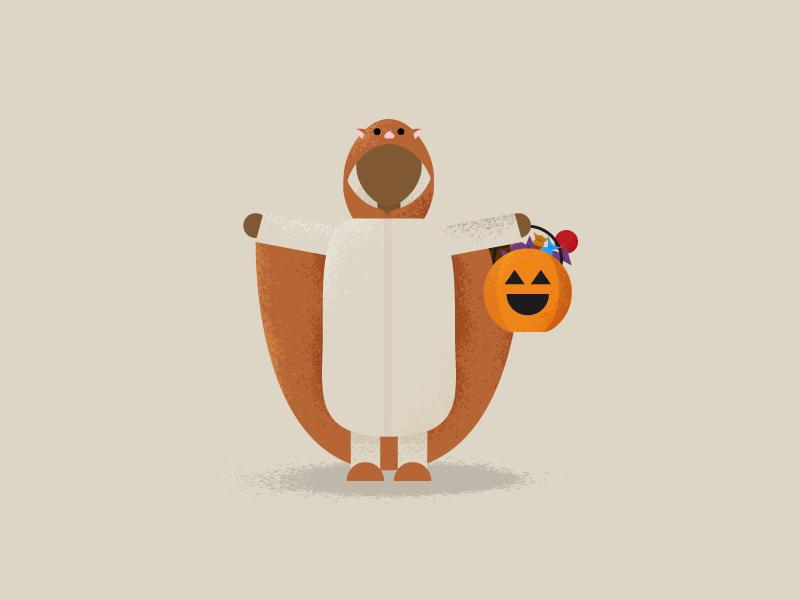 Flying Squirrel Costume jack-o-lantern flat design trick or treat texture illustration texture flat illustration flat illustration costume halloween flying squirrel squirrel