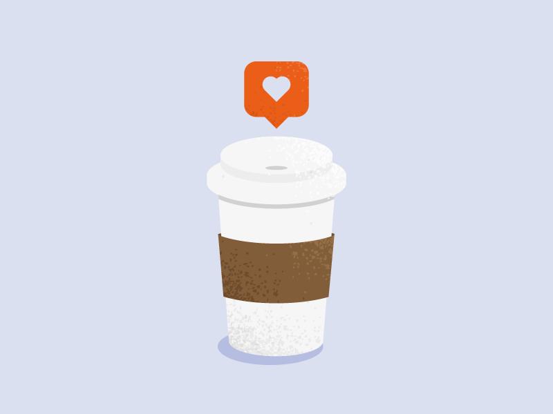 Coffee Always notification like coffee iconography flat illustration coffee love love like coffee