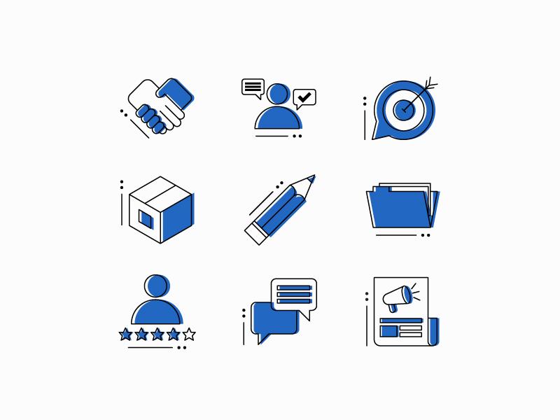Icon Set public relations marketing iconography icons icon icon set