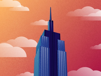 Looking Up in NYC - 3 vector architecture texture nyc flat design illustration