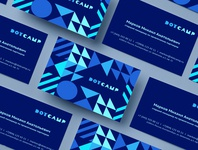 Dot Camp bootcamp minimalism textures ornament corporate identity it business card branding vector design