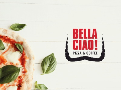 Bella Ciao branding coffee pizza logo design