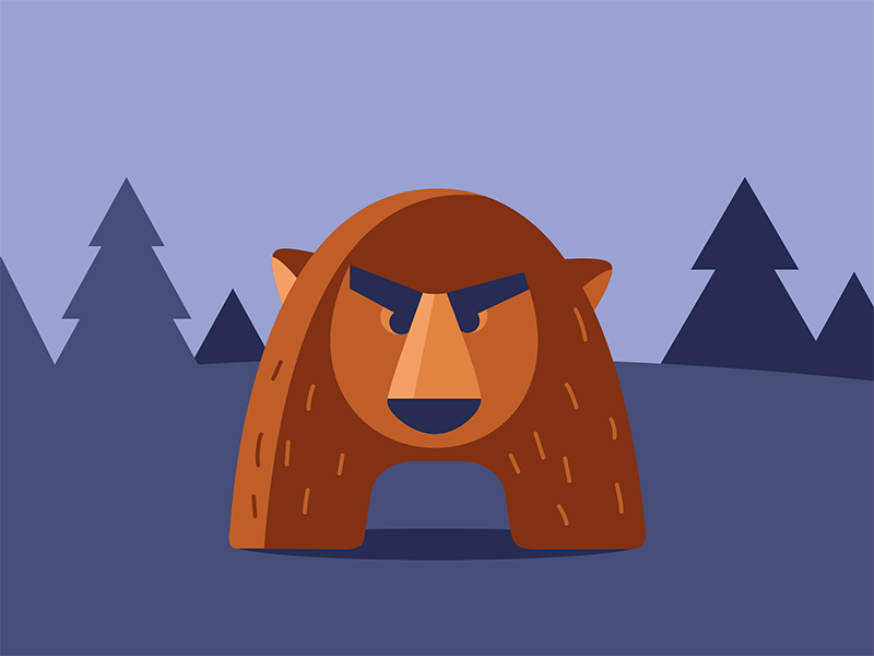 Bearrr! flat illustration art design bear