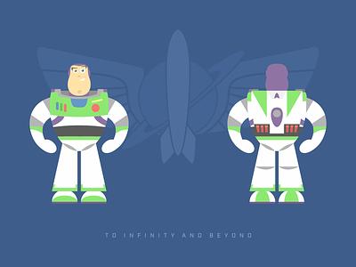 Buzz Lightyear vector funny character cartoon design flat illustration art toystory buzz buzzlightyear