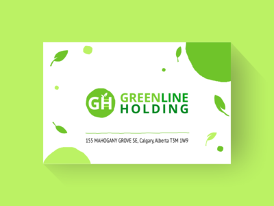 Greenline Holding eco corporate identitiy busines card polygraphy branding logo vector design