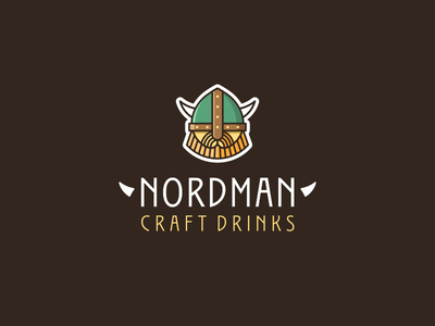 Nordman brewery logo minimalism scandi identity product drinks craftbeer craft brewery branding flat vector design