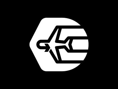 Departure flight airplane thicklines symbol icon logo