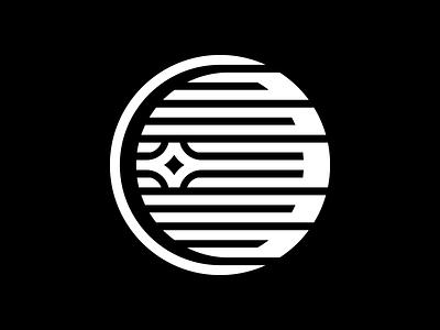 Neptune space planet thicklines logo symbol icon