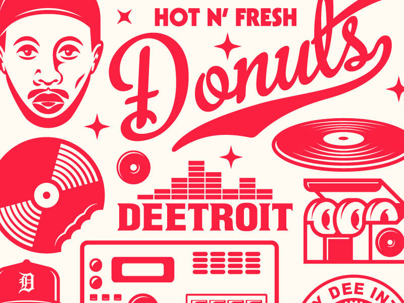 J Dilla Donuts Illustration by Brenden Goodcuff on Dribbble
