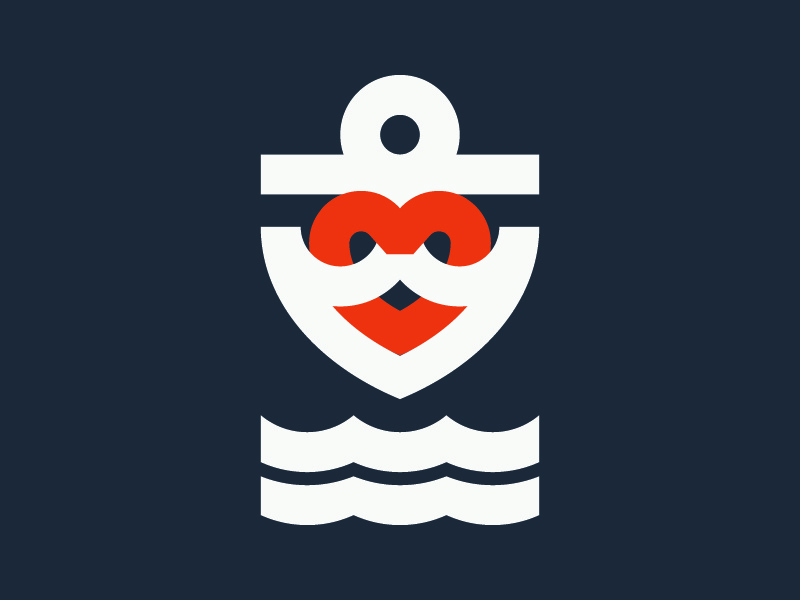Anchor Heart Symbol By Brenden Goodcuff Dribbble