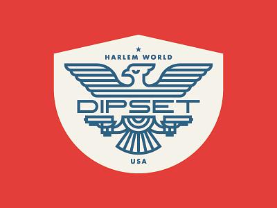 Dipset Badge Design dipset most hated harlem world
