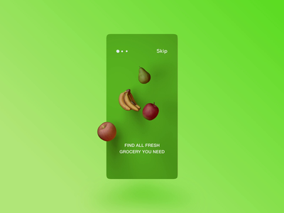 Grocery app onboard commerce 3d animation 3d app animation interface onboarding onboard grocery store grocery
