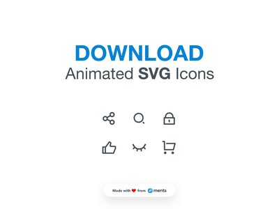 Download free SVG Animated Icons flat design ui icon ios android interface vector illustration animation
