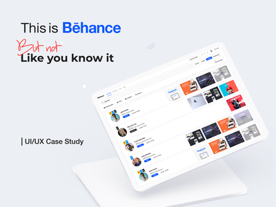 Behance Search Redesign research redesign uxdesign ux uidesign uiux ui case study branding