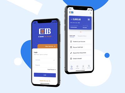 CIB Bank app Concept minimal interface android ios illustration animation ux uxdesign uxui uiux uidesign design ui bank app app bank