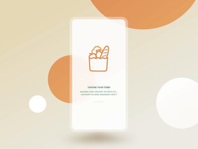 Breadshop Onboarding / ProtoPie Playoff Downloadable lottie ios app design flat vector minimal typography icon illustration branding animation interface pieday