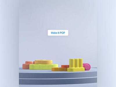 Make design POP app design illustration ios android interface motion graphics 3d animation ui