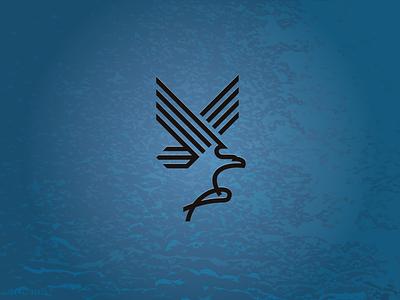 Eagle Fish eagle fish hunt wings logo illustration wildlife sea bird