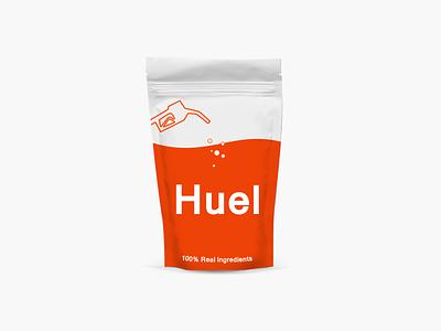 Huel packaging flat design food