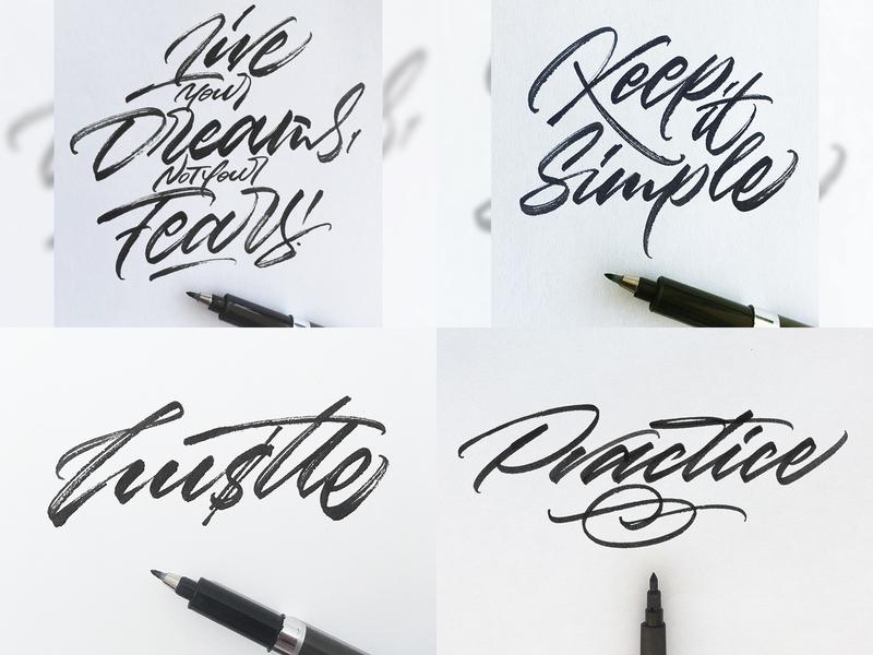 My Top 4 Shots on Dribbble from 2018 typography type signature logo signature logo design lettering logotype logo graphic  design design customtype calligraphy brushscript brushpen brush lettering brush calligraphy brush artist art