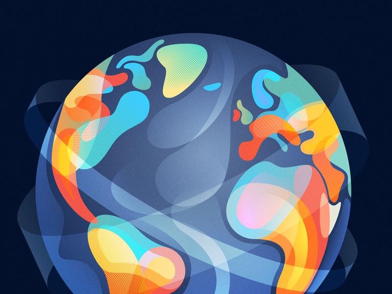 World Economic Forum - Geopolitical Report design abstract editorial illustrator adobe vector illustration globe