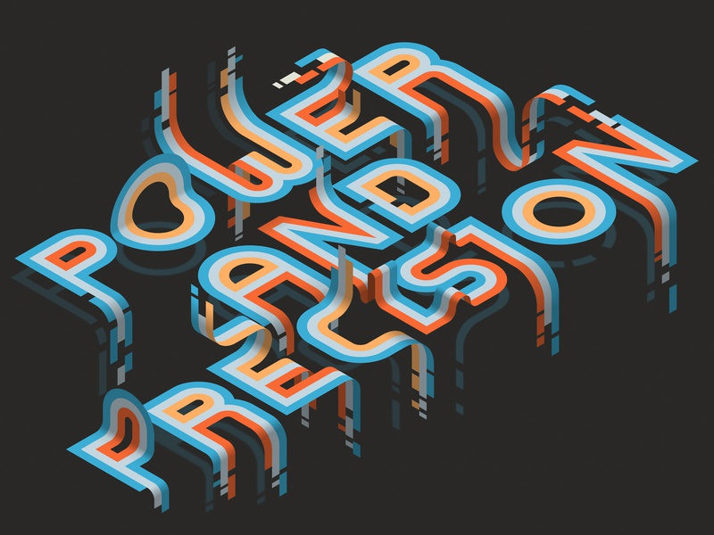 Power and Precision affinitydesigner affinity vector lettering typography isometric